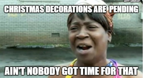 Christmas Celebrations are Pending And nobody got time for that