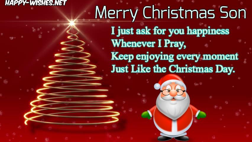 Christmas Wishe For Son