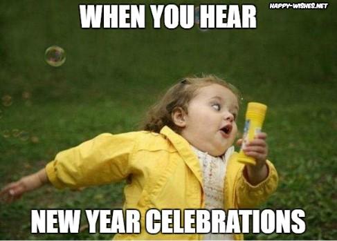 Funny girl happy new year memes