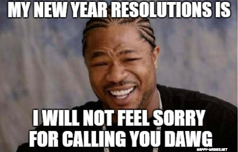 Funny new year resolutions memes