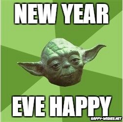 Happy New Year yoda meme
