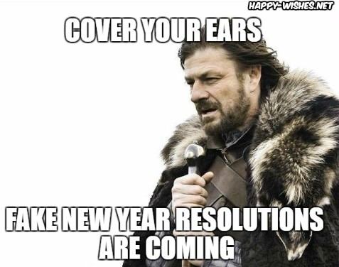 Happy new year reolution memes with Game of thrones characters