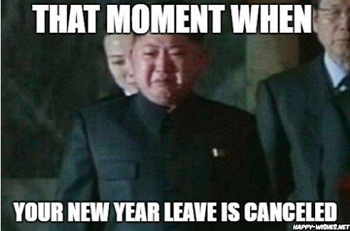 Kim jhong in Happy new year memes