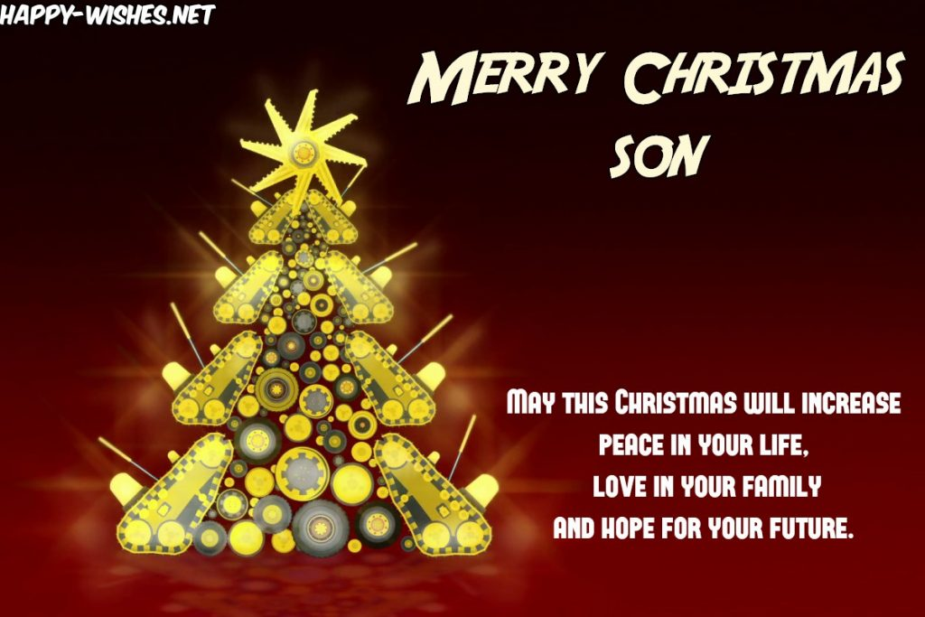 Merry Christmas Wishes for Son