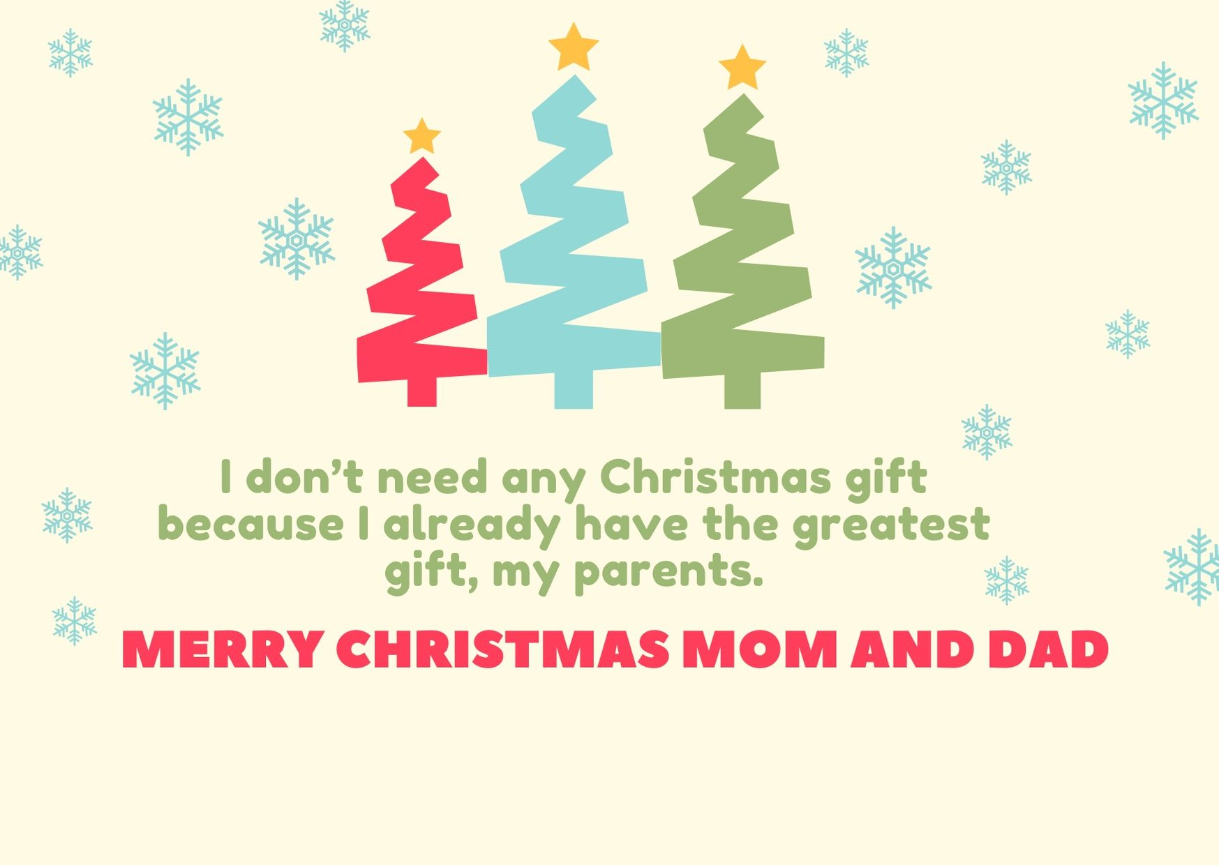 Merry Christmas to my mom and dad