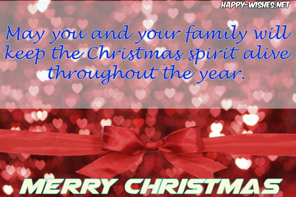 Merry Christmas wishes to you and Your Family
