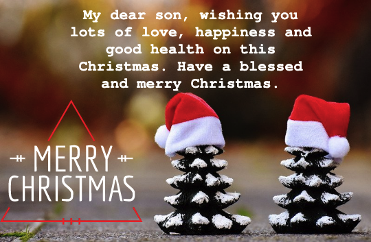 Merry christmas message for my son