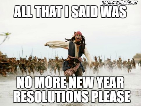 New Year Resolutions memes wishes