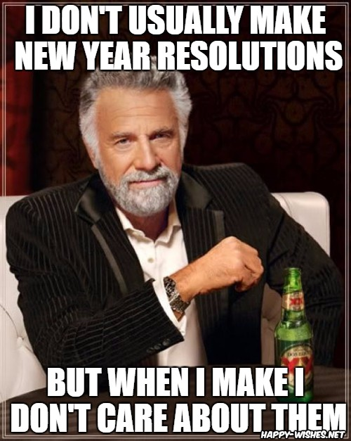 New year Resolution Break Memes