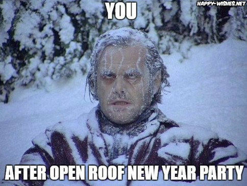 Open roof new year party meme
