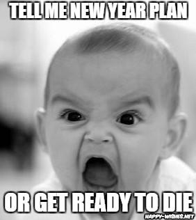 angry kid Happy New Year meme