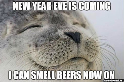 beer on new year eve memes