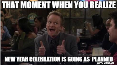 new year celebration memes