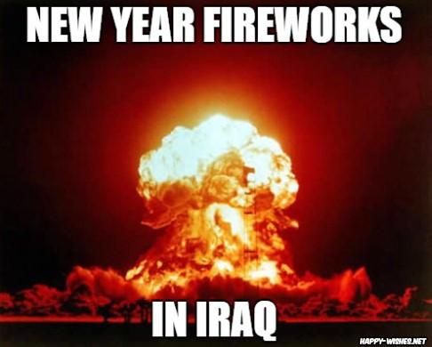 new year fireworks in iraq