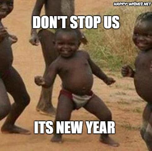 new year kids celebration memes