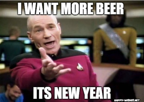 new year memes on beer
