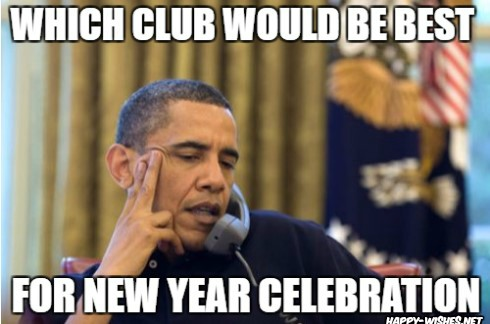 obama asking which new year club should be chosen for new year celebration meme