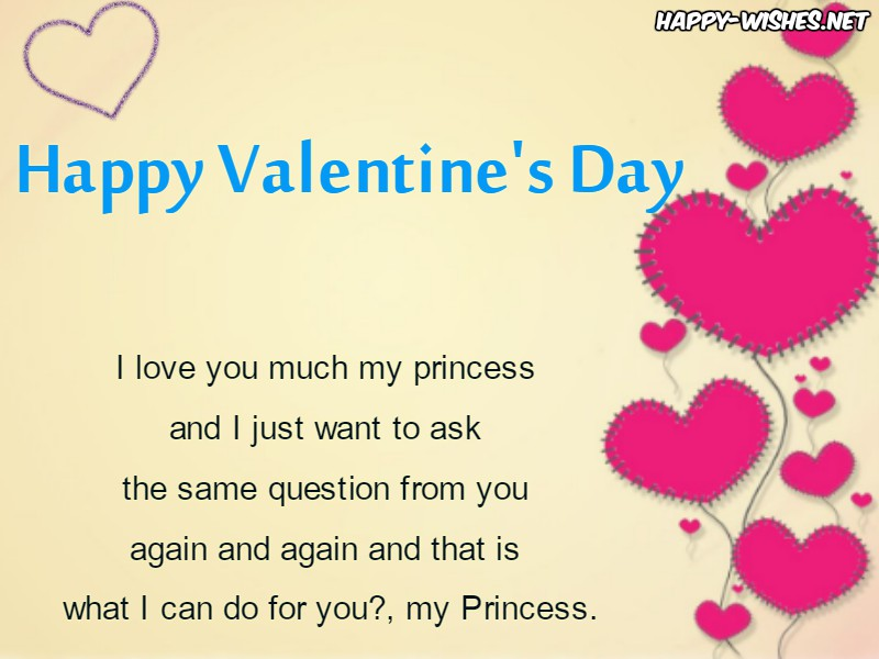 Best Valentine's day wishes for my princess