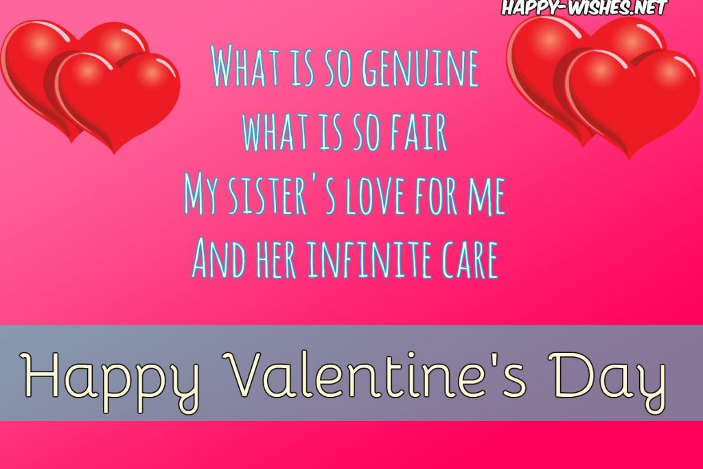 Best Valentine's day wishes for sister