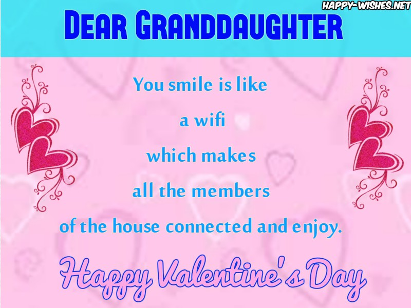Best Wishes for granddaughter on Valentines day