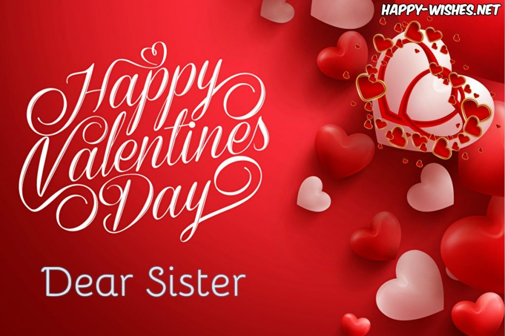 Best best Valentine's day message for sister