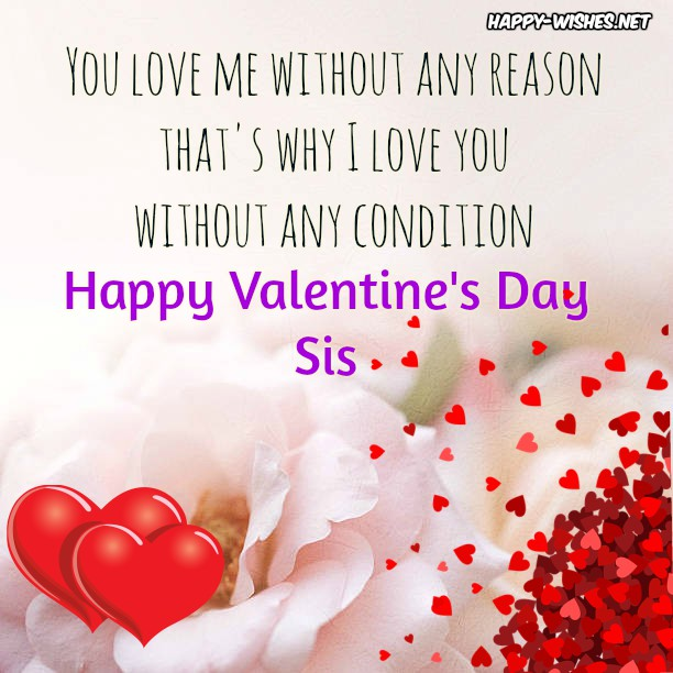 Best wishes and Quotes for the sister in Valentine