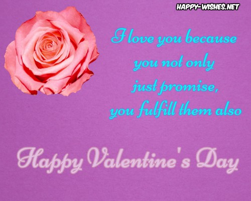 Best wishes for the valentine's day