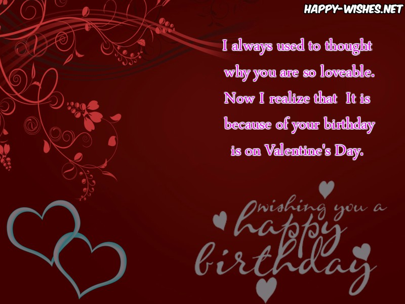 Happy Birthday images for the Valentine's Day