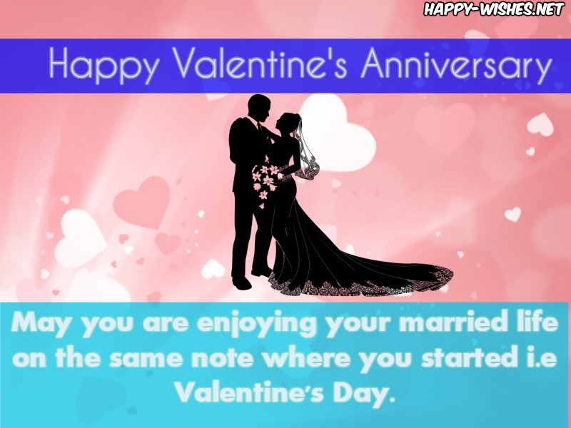 Happy Valentine's Day Anniversary Wishes For Coupel