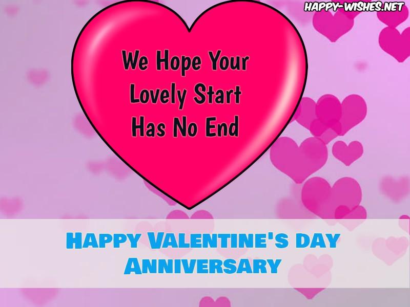 Happy Valentine's Day Anniversary Wishes Messages