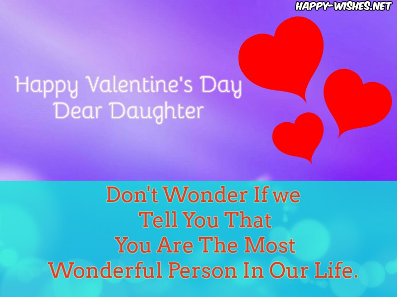 Happy Valentine's Day Messages for DAUGHTER