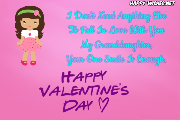 Happy Valentine's Day Wishes For Granddaughter