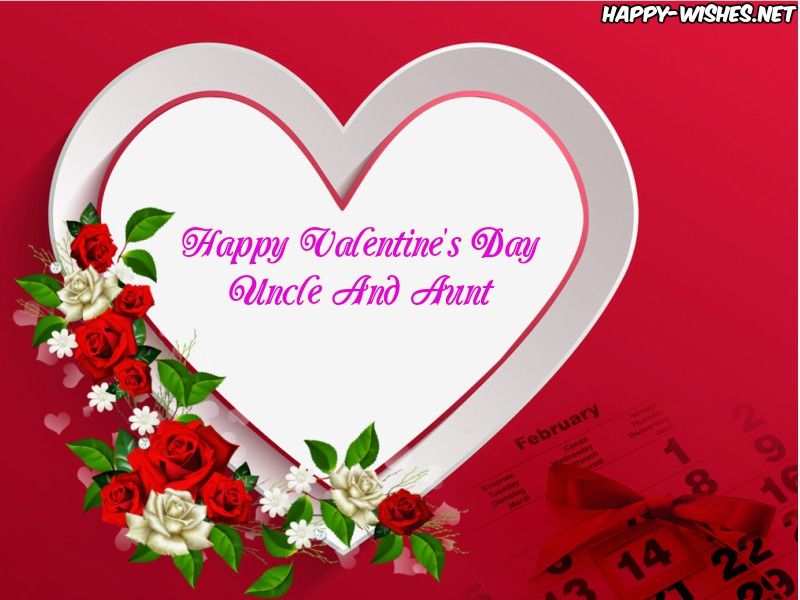 Happy Valentine's Day Wishes For Uncle And Aunt