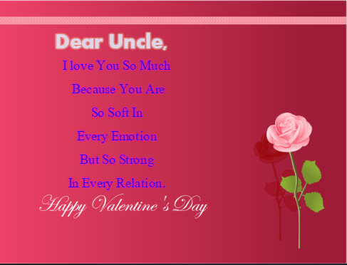 Happy Valentine's Day Wishes For Uncle