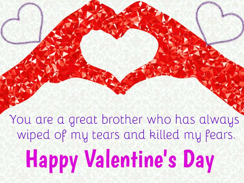 Happy Valentine's Day Wishes Fpor Brother