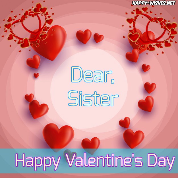 Happy Valentine's day image for sister
