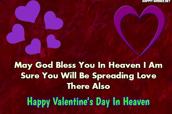 Happy Valentine's day wishes in heaven for love