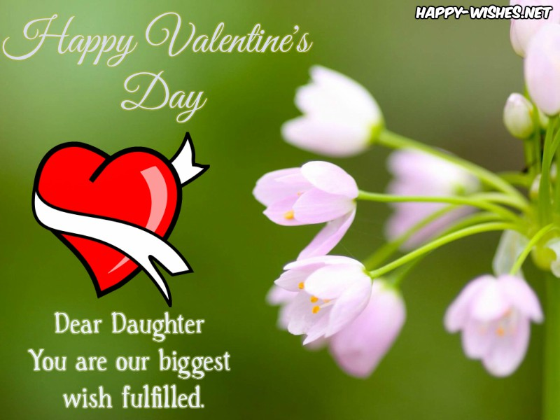 Lovely Valentine's Day messages for daughter