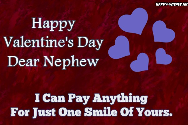 Lovely wishes for the nephew on Valentine