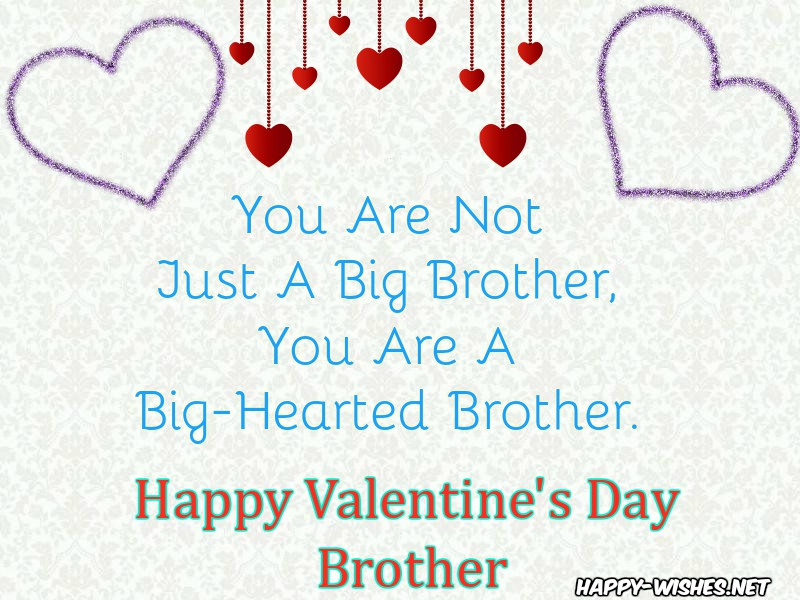 Messages for brother on Valentine's day