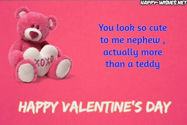 Valentine's Day Wishes for a dear nephew
