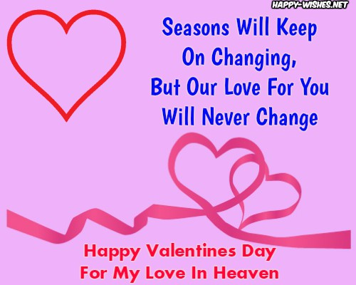 Valentines day messages for love in heaven