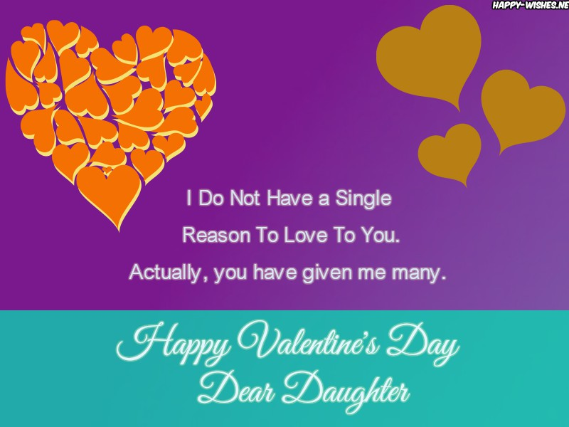 Valentine's day messages for my daughter