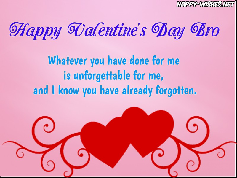 Valentine's day wishes for brother - Copy