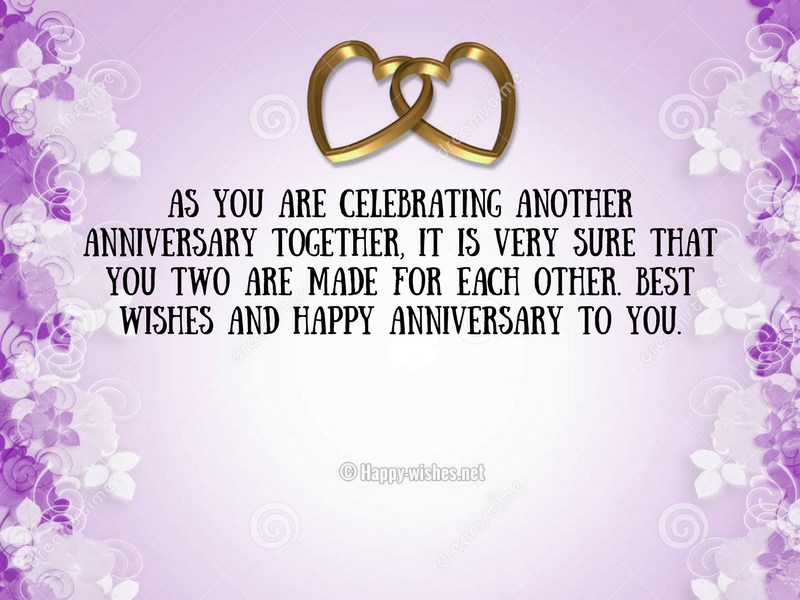 As you are celebrating another anniversary together