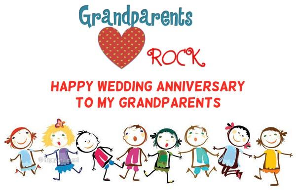 Grandparent rock - Wedding Anniversary wishes