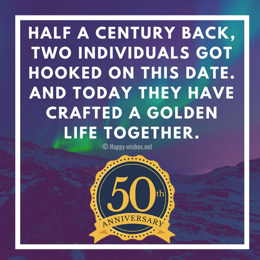 50th Wedding Anniversary Wishes Quotes & Messages