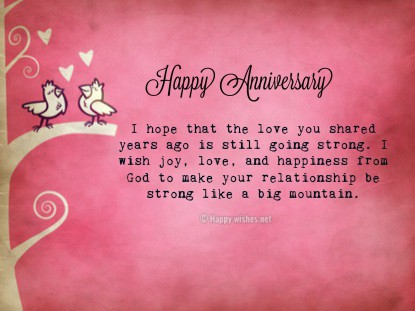 Happy Anniversary Wishes for Parents from Daughter