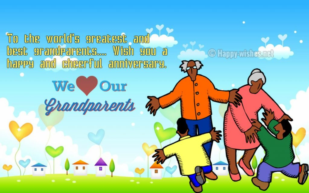 Anniversary Wishes For Grandparents From Grandchildren