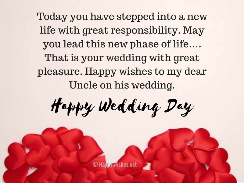 Happy Wedding day to my Uncle